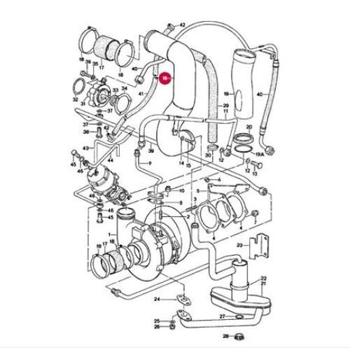 Porsche 930 Intercooler Down Pipe 93011016502