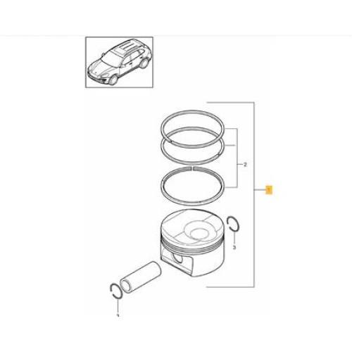 Porsche 955 970 Piston 94810305722 V-8 09-12