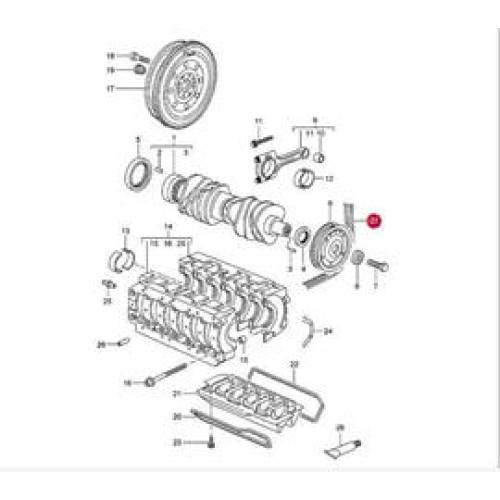Porsche 997 Poly-Rib Belt 99610215166