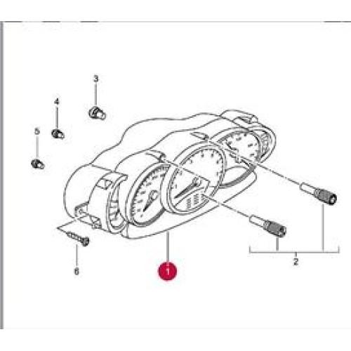 Porsche 996 GT2 Instrument Cluster Manual 9966412130570C