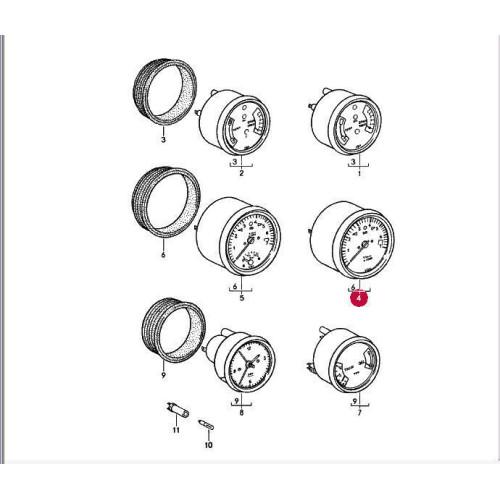 Porsche 911 Tachometer 91164130103 SS 911641301CX
