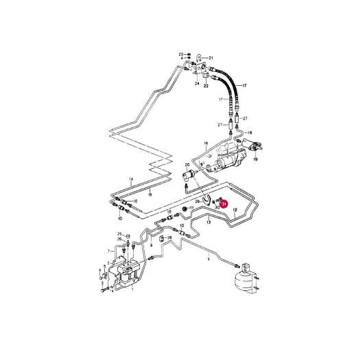 Porsche 964 Slave Cylinder 96433977507*