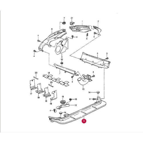 Porsche 965 930 Engine Tin Front 96410621420