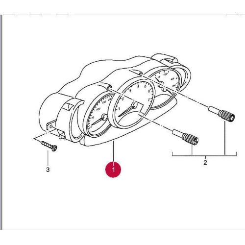 Porsche 986 Boxster Instrument Gauges 6488 mls 9866412040670C
