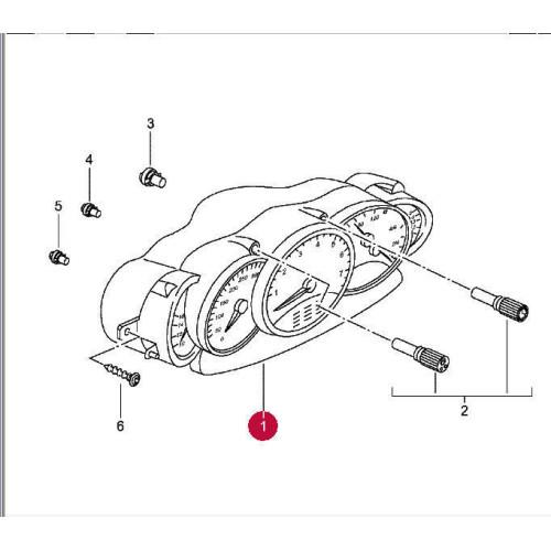 Porsche 996 Instrument Cluster Manual 9966412230370C 9798 mls