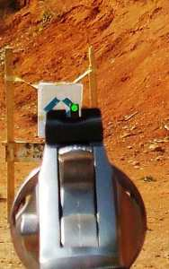 Sight picture of Ruger Sp 101