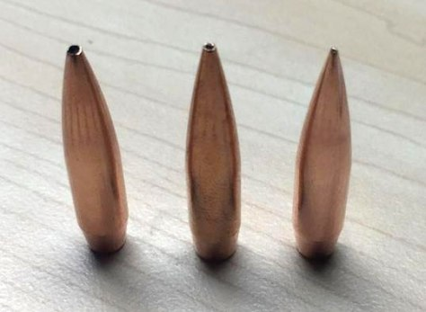 Bullet lineup comparison of hollow point bullets for the nosler RDF bullet