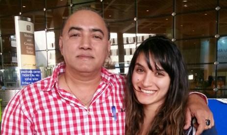 At Mumbai airport with dad