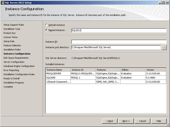 Provide installation configuration