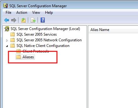 How to setup and use a SQL Server alias