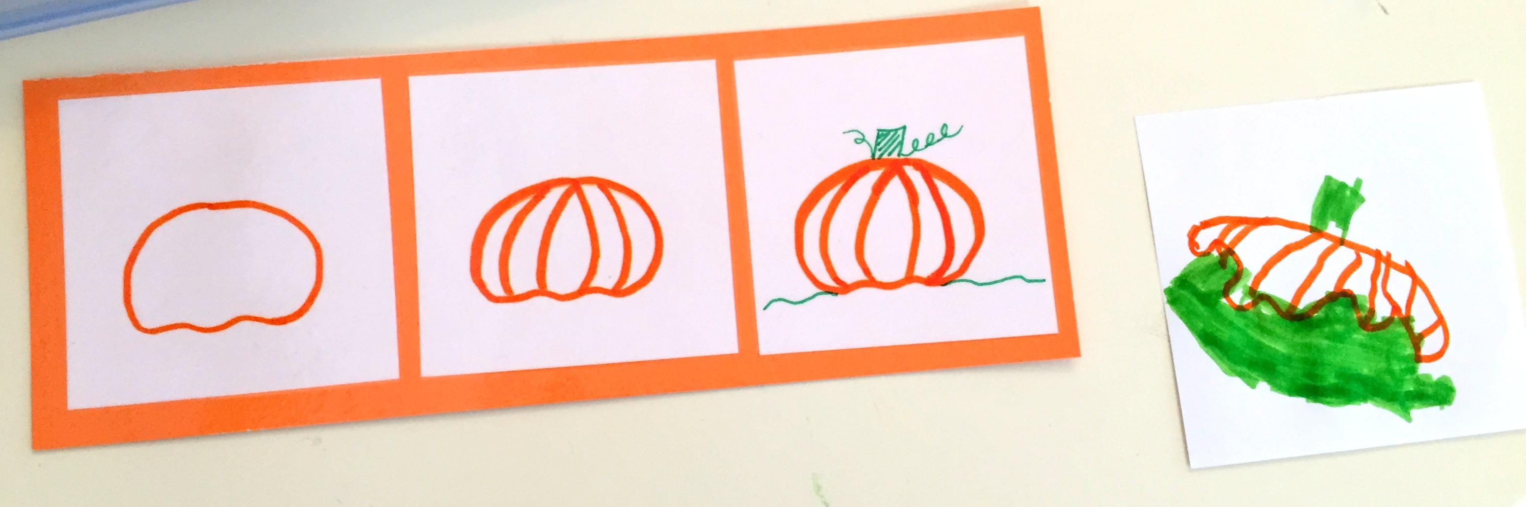 Halloween Preschool Drawing