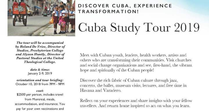 Cuba Study Tour 2019! Discover Cuba & Experience Transformation