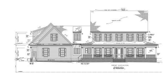 City of Raleigh Estate Front Elevation