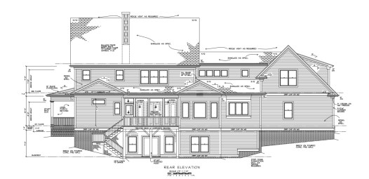 City of Raleigh Estate Rear Elevation