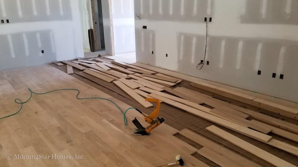Hardwood floors are going in