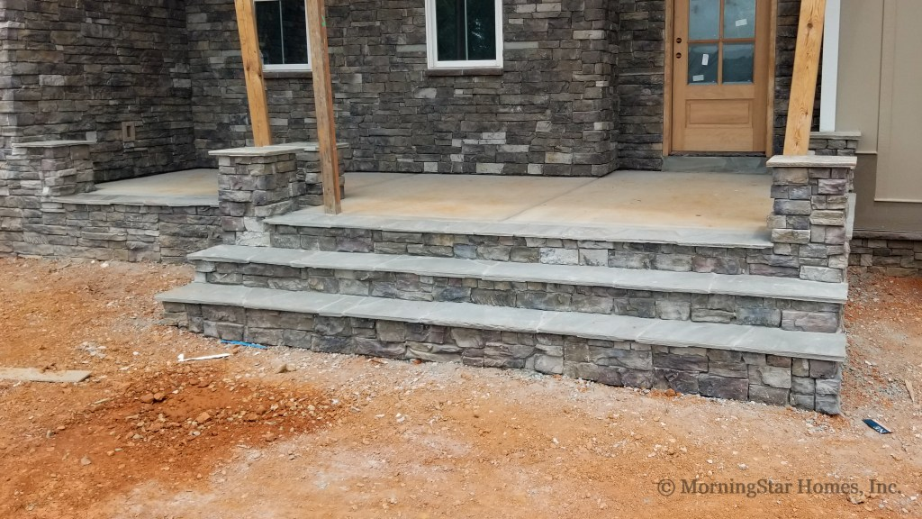 Front Porch stone is complete