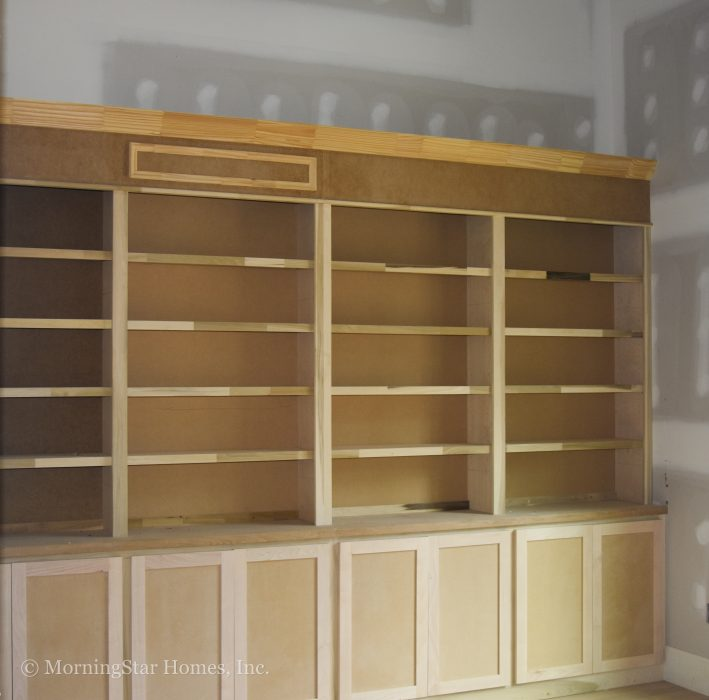 Built-in bookcases for the study