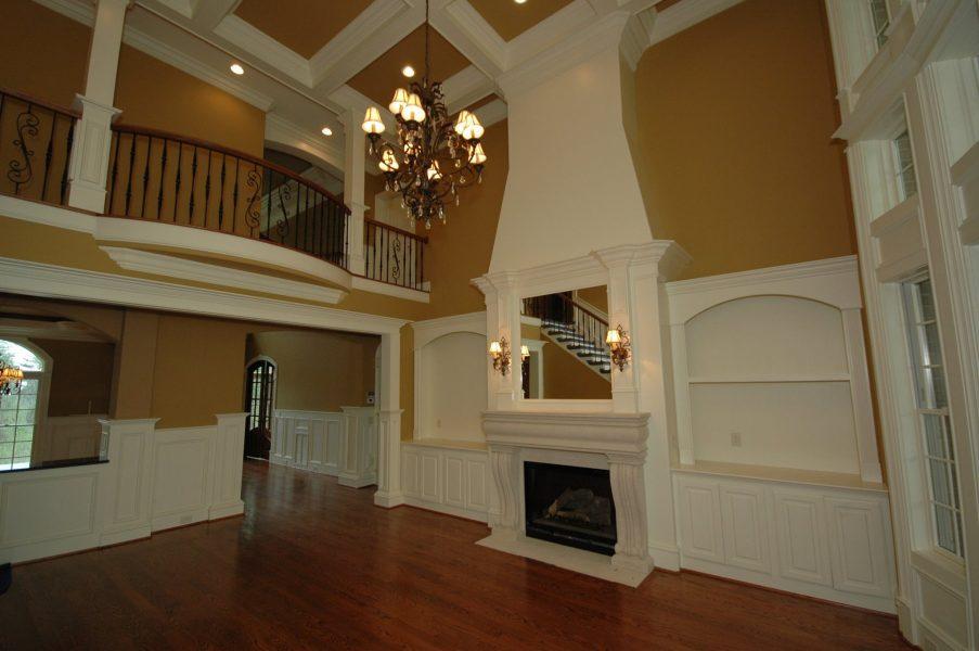 Custom fireplace and railings