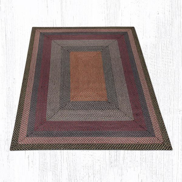 Burgundy Blue Gray Braided Jute Rectangle Area Rug 043  Morning Star Home Accents
