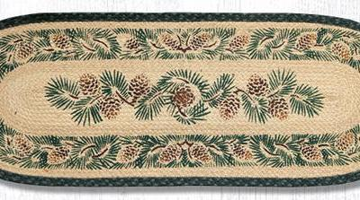 Pinecone 68-025A Oval Runner 13x36