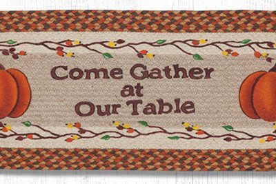 Come Gather At Our Table 68-222CGT Oval Runner 13x36