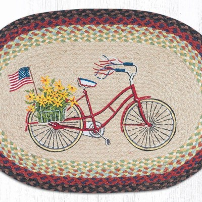 Bicycle with Flag 65-574BF 20 x 30 Oval