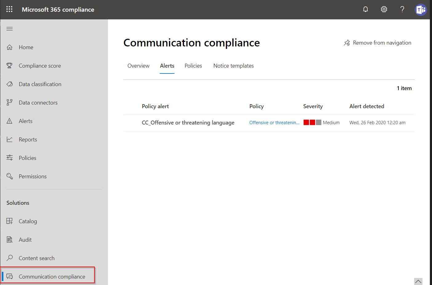 Microsoft Teams Communication Compliance