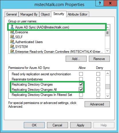 Azure AD Sync Requirements / Prerequisites