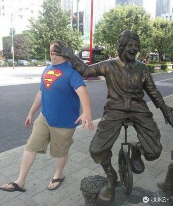 我與銅像有約... 毫無違和感的「超有事合照」特輯XDD 4