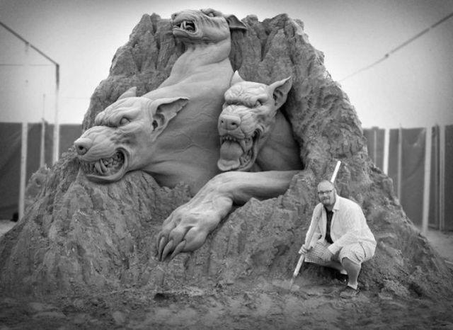 超奇妙大型沙雕,讓人嘖嘖稱奇