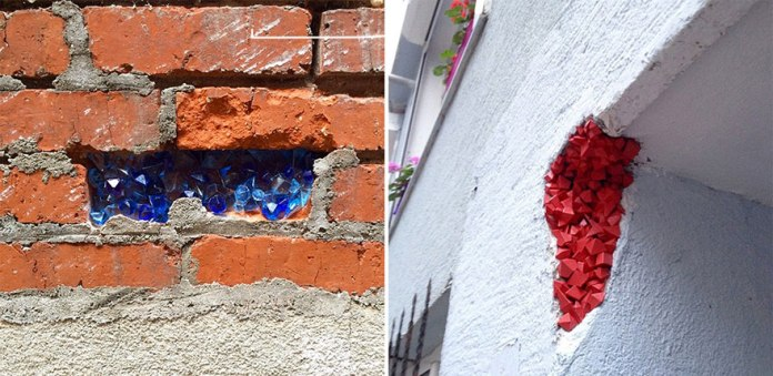 藝術家將華麗的晶體隱藏於世界向大城市中,令整個市區角落煥然一新!