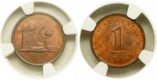 在新加坡亞洲錢幣拍賣會上,馬幣1分舊銅錢竟值RM49680天價!!
