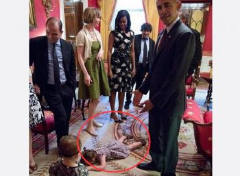 小女孩美國白宮逾越節晚宴發飆,不給奧巴馬面子走紅!