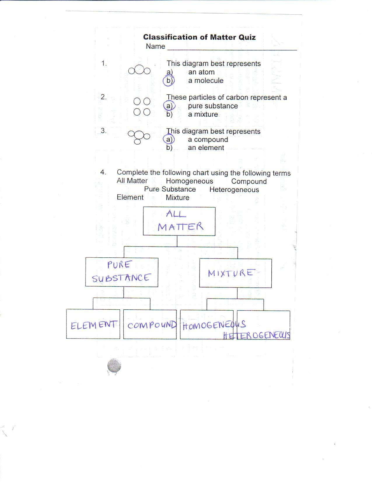 Worksheet Classification Of Matter Worksheet Grass Fedjp