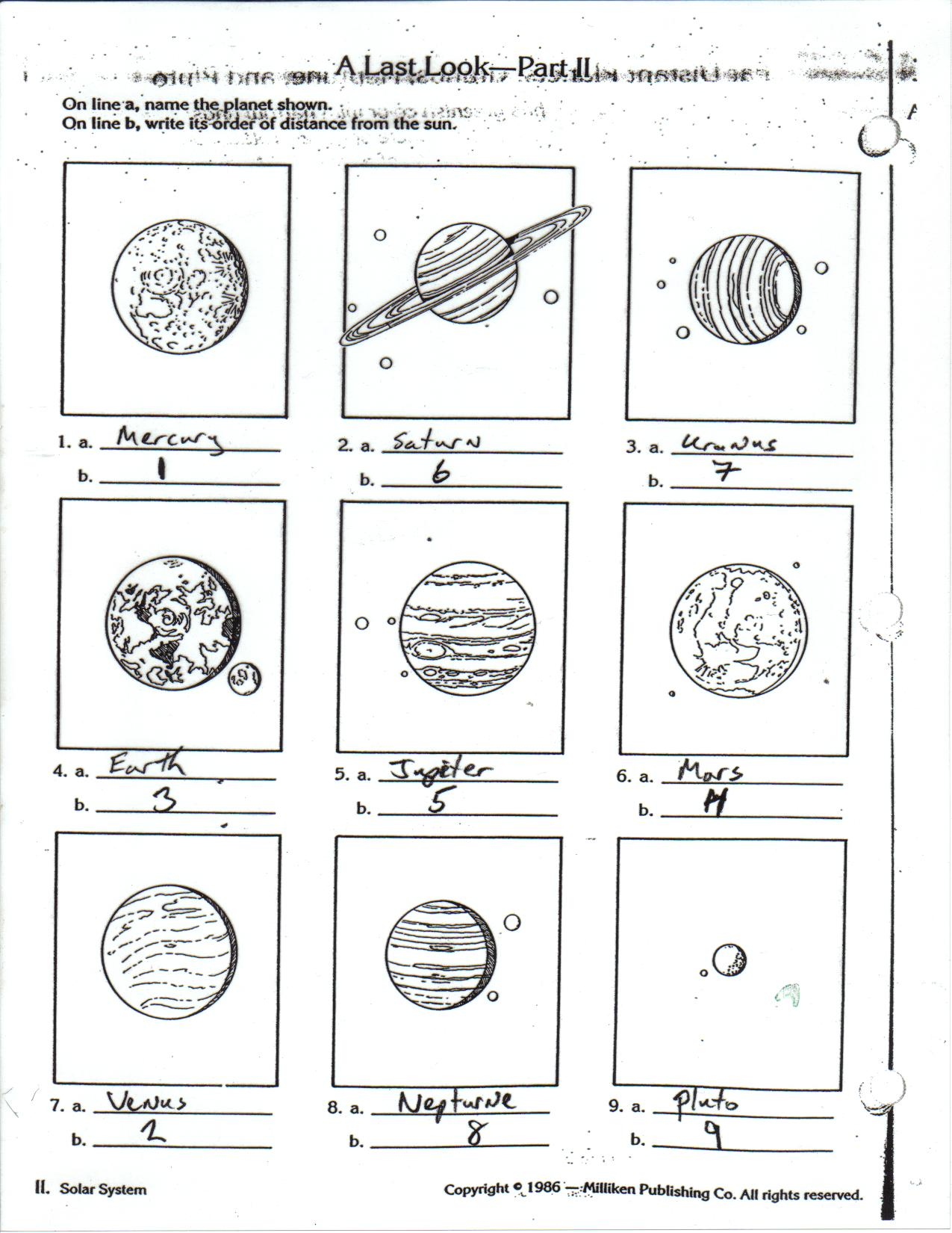 Science The Outer Planets Worksheet Vestfingua