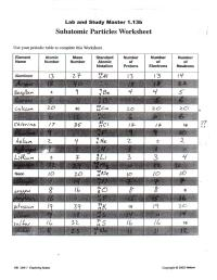Atomic Structure Worksheet Part 1 Isotopes - Breadandhearth