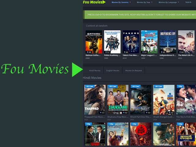 Foumovies Download – Download Latest HD Hollywood, Bollywood Movies From FOU MOVIES | FOU Movies Download | Foumovies.com