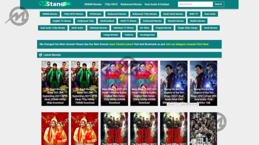 7Starhd - Download Latest Hollywood Bollywood Movies | 7starhd.me