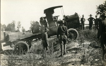 Men testing a Duplex truck, circa 1918 (A006448)