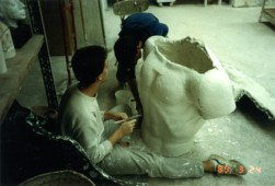 Creating the plaster cast of the Spartan (box 5803, folder 15)
