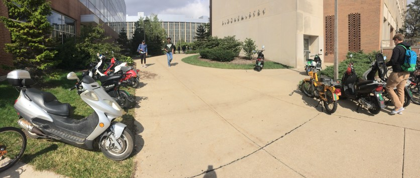 Outside the BPS/ Chemistry South entry.