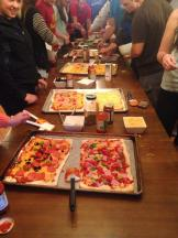 AOPi had a pizza making competition with Pike