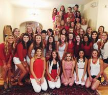 The women of Alpha Omicron Pi