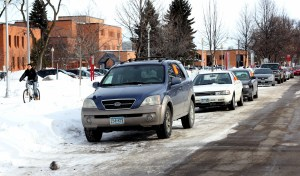 During Moorhead's second snow removal declaration, more than 70 cars were towed from the blue snow district.