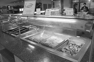 The Simple Servings station offers healthy choices for students in Kise Commons.