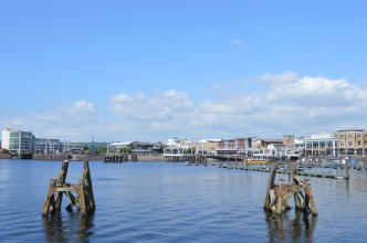 View of Cardiff Bay.