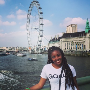 In front of the London Eye
