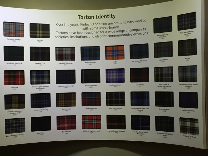 All Tartan has a meaning whether its your family name or sports team.