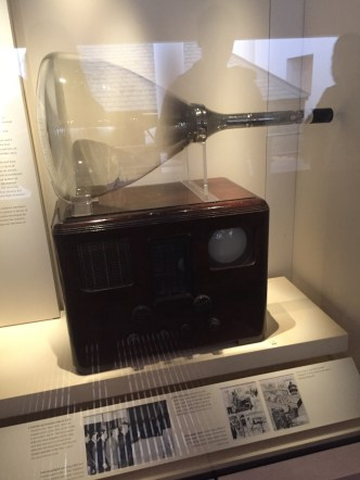 The first television.