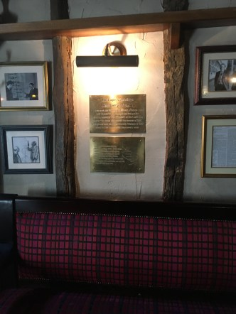 The exact seat in The Eagle Pub where DNA was discovered